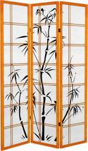 Canvas Bamboo Tree (Honey Finish) :: Japanese Shoji Screens