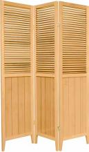 "Natural 70"" Tall Wooden Beadboard Screen :: Wooden Shutter Screens"