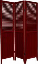 "Rosewood 70"" Tall Wooden Beadboard Screen :: Wooden Shutter Screens"