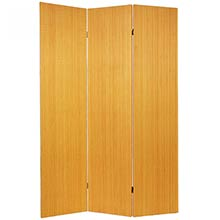 Frameless Bamboo Room Divider (Honey Finish) :: Double Sided Shoji Screens