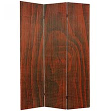 Frameless Bamboo Room Divider (Walnut Finish) :: Double Sided Shoji Screens