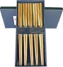 Twisted Bamboo Set of 5 Chopsticks :: Designer Chopsticks