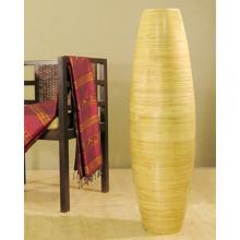 "47"" Natural Oval Cylinder Floor Vase :: Bamboo Decor"