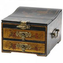 Small Jewelry Box with Mirror :: Oriental Boxes and Trunks