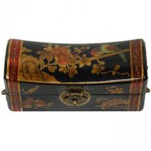 Lacquer Flowers Pillow Box :: Oriental Boxes and Trunks