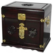 Rosewood Oriental Jewelry Box with Five Drawers :: Oriental Boxes and Trunks