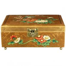 Clementina Jewelry Box in Gold :: Oriental Boxes and Trunks