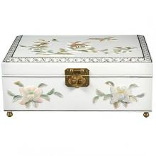 Clementina Jewelry Box in White :: Oriental Boxes and Trunks