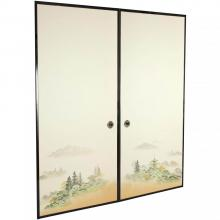 6 3/4 ft. Tall Autumn Landscape Fusuma Sliding Door :: Shoji Sliding Doors