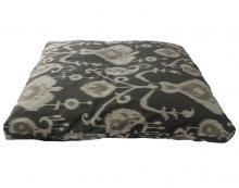 Grey Ikat Zabuton Meditation Cushion ::