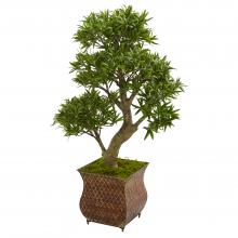 "40"" High Artificial Bonsai Tree In Metal Planter :: Artificial Bonsai Trees"