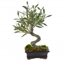 Mini Olive Artificial Bonsai Tree :: Artificial Bonsai Trees