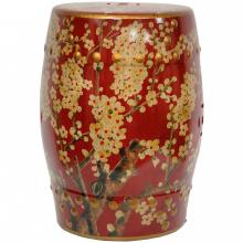 Sakura Blossom Garden Stool :: Porcelain Garden Stools