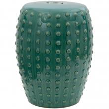 "18"" Blue-Green Porcelain Garden Stool :: Porcelain Garden Stools"