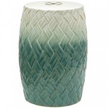 "18"" Carved Woven Design Garden Stool :: Porcelain Garden Stools"