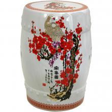 """18"""" Cherry Blossom Porcelain Garden Stool :: Porcelain Garden Stools"""