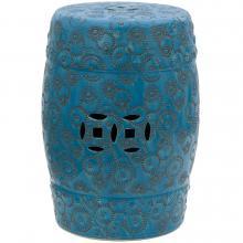 """18"""" Spherical Design Porcelain Garden Stool :: Porcelain Garden Stools"""
