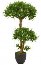 3' Bonsai Styled Podocarpus Artificial Tree :: Artificial Bonsai Trees