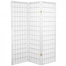 5 ft. Tall Japanese Window Screen (White Finish) :: Japanese Shoji Screens