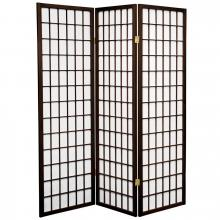 5 ft. Tall Japanese Window Screen (Walnut Finish) :: Japanese Shoji Screens