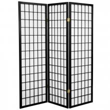 5 ft. Tall Japanese Window Screen (Black Finish) :: Japanese Shoji Screens