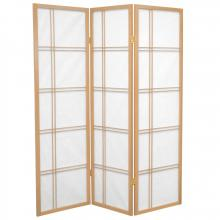 5 ft. Tall Double Cross Shoji Screen (Natural Finish) :: Japanese Shoji Screens