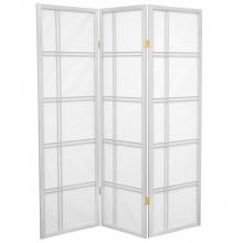 5 ft. Tall Double Cross Shoji Screen (White Finish) :: Japanese Shoji Screens