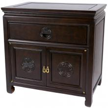 Dark Rosewood Bedside Cabinet :: Asian Style Furniture
