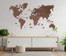 Oak 2D Wooden World Map :: 2D Wooden World Maps