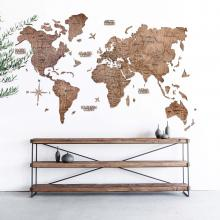 Terra 2D Wooden World Map :: 2D Wooden World Maps