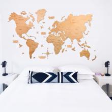 Light 2D Wooden World Map :: 2D Wooden World Maps