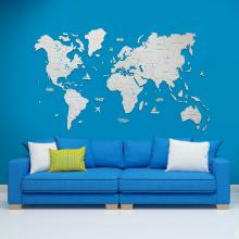 White 2D Wooden World Map :: 2D Wooden World Maps
