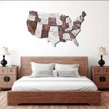 Cappuccino 3D Wooden USA Map :: Wooden USA Maps