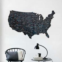Black 3D Wooden USA Map :: Wooden USA Maps