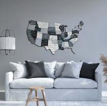 Nordik 3D Wooden USA Map :: Wooden USA Maps