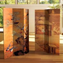 6 ft. Tall Double Sided Chinese Landscapes Canvas Room Divider :: Double Sided Shoji Screens