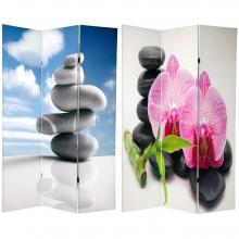 6 ft. Tall Double Sided Zen Room Divider :: Double Sided Shoji Screens