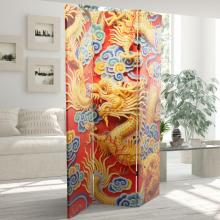 6 ft. Tall Traditional Chinese Emperor Dragon Room Divider :: Double Sided Shoji Screens