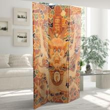 6 ft. Tall Dragon of the Red Chamber Double Sided Room Divider :: Double Sided Shoji Screens