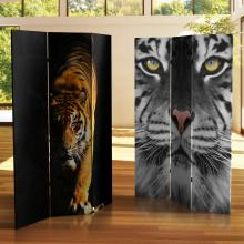 6 ft. Tall Double Sided Tiger Room Divider :: Double Sided Shoji Screens