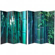 6 ft. Tall Double Sided Bamboo Tree Canvas Room Divider 4 Panel :: Double Sided Shoji Screens