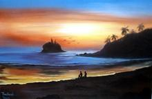 Sunset Beach :: Oriental Paintings