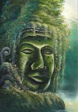 Jungle Buddha :: Oriental Paintings