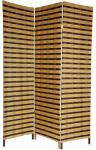 6 ft. Tall Two Tone Natural Fiber Room Divider