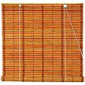 Burnt Bamboo Roll Up Blinds - Two-tone Honey main image