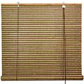 Burnt Bamboo Roll Up Blinds - Multi-color Weave main image