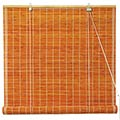 Burnt Bamboo Roll Up Blinds - Honey main image