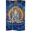 6 ft. Tall Radiant Tara Tibetan Double Sided Canvas Room Divider  main image