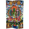 6 ft. Tall Green Tara Tibetan Double Sided Canvas Room Divider main image