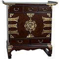 Korean Antique Style 5 Drawer End Table Cabinet main image